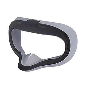 LICHIFIT Weiche, schweißfeste Silikon-Augenmaske, Controller-Griff, Schutzhülle für Oculus Quest VR Headset und Controller, Augenmasken-Abdeckung + Controller-Abdeckung, schwarz