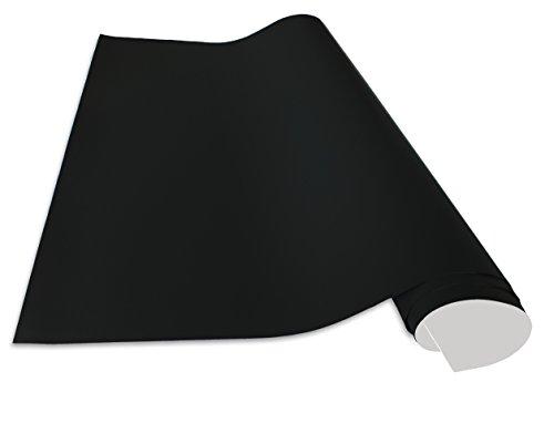 Selbstklebende und magnetische Vinyl- Tafelfolie in verschiedene Größen | Kreidetafel | Formate: 50x70cm|100x50cm|100x75cm|100x150cm|100x250cm|100x300cm|100x500cm | inkl. 2xKreide + 10er Set SuperMagnete| Kreidetafel | Wandfolie schwarz (50x70cm)