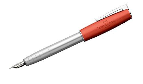 Faber-Castell 149221 – Estilográfica Loom Metallic con cuerpo lacado metálico con forma cónica ergonómica, plumín con…