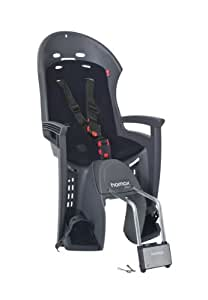 Hamax hAM551089 siège bébé pour vélo smiley w support verrouillable.-gris/noir-hAM552033