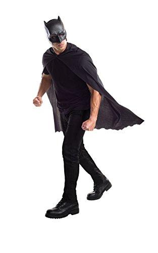 Preisvergleich Produktbild Rubie 's Erwachsenen 's Offizielles Batman Maske und Cape–ONE SIZE, schwarz