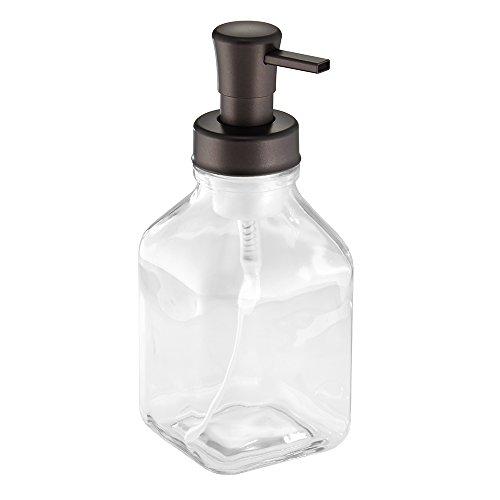 Spüle Küche Soap-pumpe Für (InterDesign Cora Schaumseifenspender, großer Seifenspender aus Glas, durchsichtig und bronzefarben)