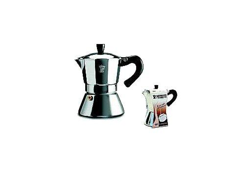 Pezzetti BellExpress Espressokocher aus Aluminium, für 6Tassen, für Induktionsherde Zentimeter grau