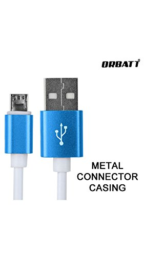 ORBATT 2.4A Fast Charging and Sync Data Cable Compatible for Karbonn Kphone K1 (Metal Connector Casing, 1 Meter cable, Hi-Speed Data Transfer)  available at amazon for Rs.249