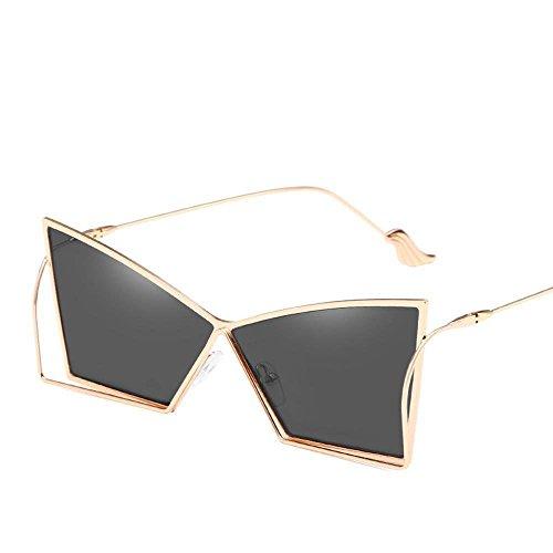 NANIH Home Herren-Sonnenbrillen Damen Edelstahl Spiegel Bein Flügel Dame Sonnenbrillen Mode Ozean Scheibe persönliche Sonnenbrillen Metall Sonnenbrillen