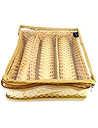 Premium Quality Golden Brocade Bangle Box/Bangle Case/kit Organizer -3 ROD- (18 X 24 X 27cms)