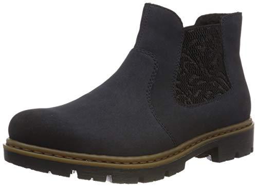 Rieker Damen 71364 Chelsea Boots, Blau (Pazifik/Schwarz 14), 39 EU
