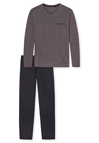 Schiesser Herren Pyjama lang 159204 Nougat