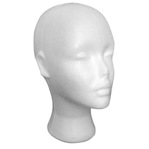 (Dummy Modell Köpfe, Transer® weiß Mannequin aus Styropor weiblich Head Modell Schnuller Perücke-Gläser Hat Display Ständer Schnuller Köpfe)