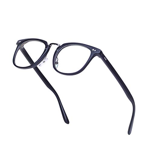 JoXiGo Brillenfassungen Damen Herren Streberbrille Retro Nerd Brille Ohne Stärke Klare Linse mit...