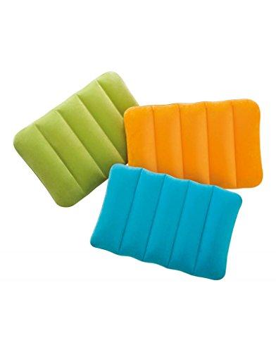 Kissen aufblasbar für die reise oder camping - Ausgabe Reisen - Bunte Design - Haus und mehr - Orange