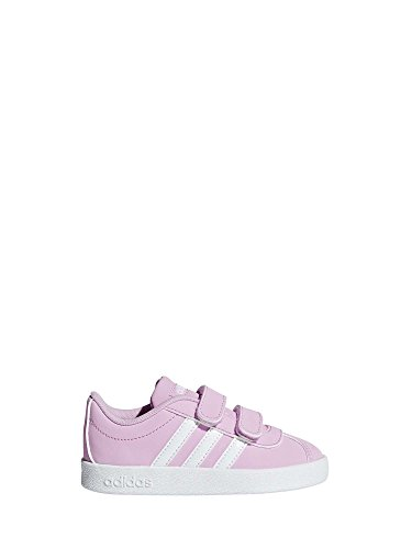 adidas Unisex Baby VL Court 2.0 CMF I Hausschuhe, Pink (Rosesc/Ftwbla/Gridos 000), 21 EU