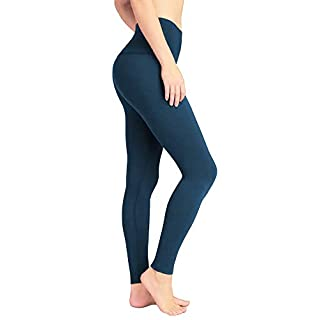 DeepTwist Yoga Pants for Women High Waist - Tummy Control Running Leggings Fitness Workout Tights with Wide Waistband, UK-DT4005-Teal-2XL