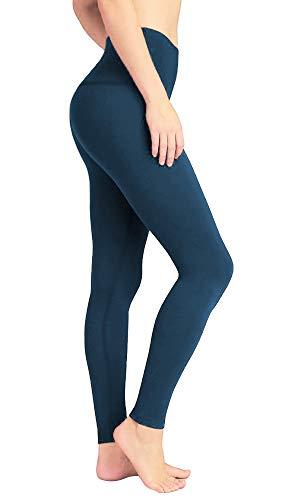 DeepTwist Yoga Hose für Damen Hohe Taille - Bauch Kontrolle Shapewear Workout Running Hosen Fitness Knöchel Full-Length Leggings mit Breiten Bund, UK-DT4005-Teal-4