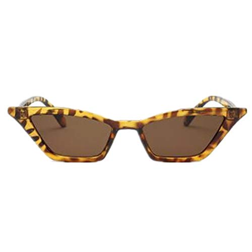 Daawqee Vintage Sunglasses Women Cat Eye Luxury Designer Sun Glasses Retro Small Red Ladies Sunglass Black Eyewear Oculos Leopard - Versace Red Lens
