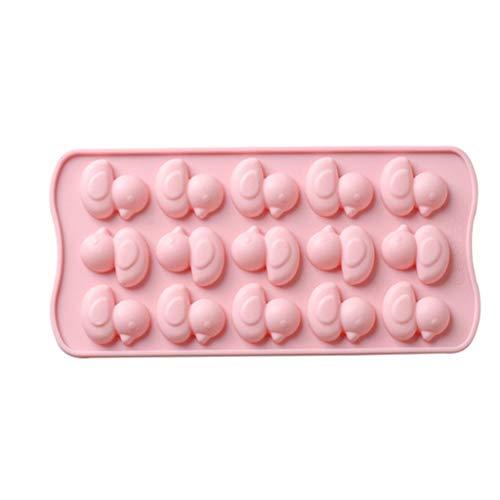 Crayola-cutter (FiedFikt Silikon-Schokoladenform, antihaftbeschichtete Kuchen, süße Ente, Gelee, Kekse, Schokolade, Süßigkeiten, Cupcake-Backform, Muffinform, Eiswürfelform, Backform, Backen, Kühlregal. Rose)