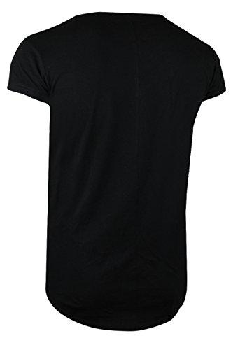 trueprodigy Casual Herren Marken Shirt Short Sleeve einfarbig Basic, Oberteil cool und stylisch mit Rundhals (kurzarm & Slim Fit), T-Shirt für Männer in Farbe: Schwarz 1072118-2999 Black