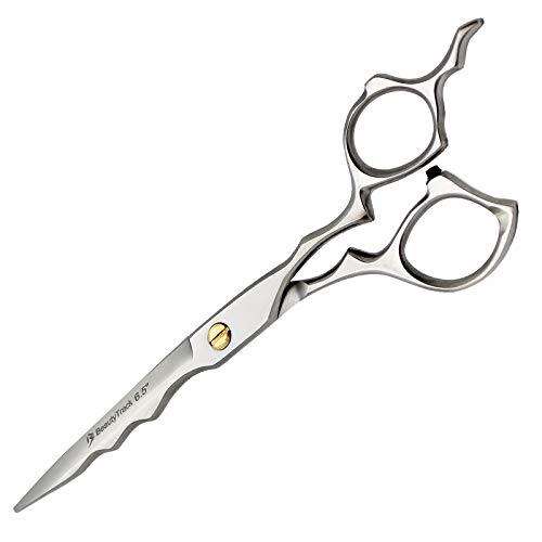 Barbier Haarschere - Haar Schere Effilierschere - Scheren - Edelstahl - Haar-Werkzeuge - Rechtshänder - Gestochen scharf für Friseursalons und persönliche Verwenden - Tasche (Haarscheren-tasche)