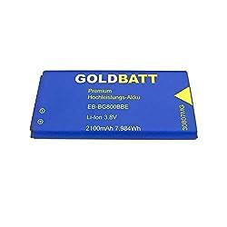 Goldbatt Akku für Samsung Galaxy S5 Mini (G800) EB-BG800BBE Dx SM-G800F EB-BG8000 Smartphone S 5 Dx SMG800F SMG800H SMG800R4 SMG800Y Premium Hochleistungs-Akku Handy ersatzakku 100% kompatibel