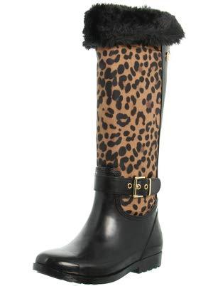 Guess Cicely Boots Femmes Black/Leopard Wellington Boots
