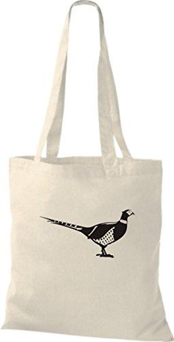 Shirtstown Stoffbeutel Tiere Fasan, Vogel Natur