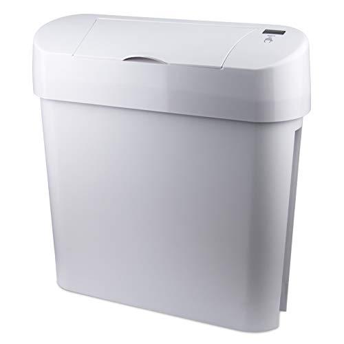 Hygiene-Behälter - Automatisch Offenes Schließen Feminines Kommerzielles Badezimmer Sani Abfallbehälter (Weiß)