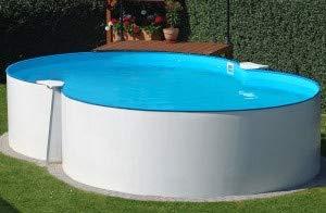 Summer Fun Stahlwandbecken Malta Basic achtform 3,50m x 5,40m x 1,20m Einzelbecken Pool Achtformpool ohne Zubehör / 350 x 540 x 120 cm Stahlwandpool