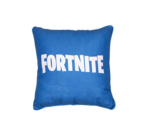 Fortnite Official Square Cushion Pillow | Officially Licensed Super Soft Two Sided Emotes Design | Perfect for Any Children's Room Or Bedroom, Blue, 40 x 40cm