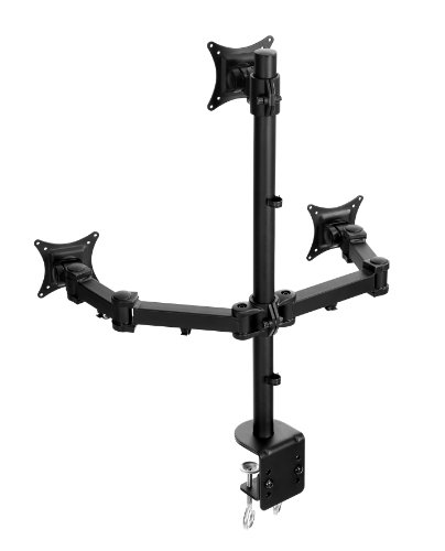 Lavolta Multi Monitorhalter/Tischhalterung Standfuß für 3x Monitore für LCD/LED/Plasma-TV mit voll einstellbaren Armen - Dreifach -