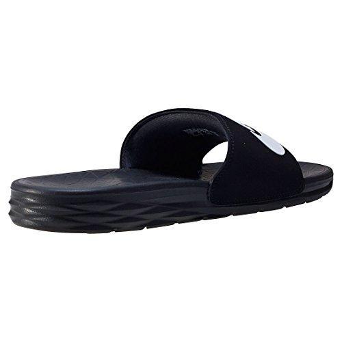 Nike SB Herren Sneaker Benassi Solarsoft Slide - BLACK/WHITE , Größe:9 -