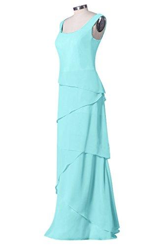 Sunvary Gioiello elegante Chiffon Gowns Homecoming per abiti da donna Apple Green