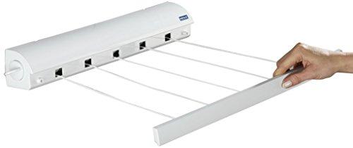 Wenko Wand-Wäscheleinen - ausziehbar, 47,5 x 7 x 7 cm, weiß