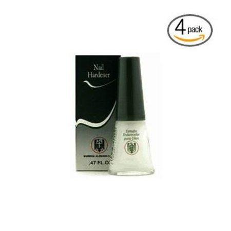 Quimica Alemana Nail Hardener 0.47oz Pack 4 W/libre