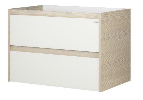 Fackelmann 83403 Waschtisch-Unterbau Viora, 2 Schubladen, Raumspar-Siphon, BxHxT: 79.5 x 55 x 49 cm
