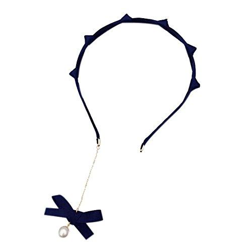 Ensemble de 2 accessoires cheveux belle bandeaux de mode bleu avec pendentif boucles d'oreilles