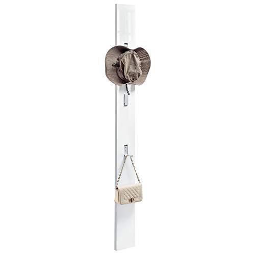[en.casa] Elegante Wandgarderobe/Flurgarderobe (170cm) Hakenleiste - weiß Hochglanz