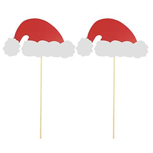 BESTOYARD Selfie Foto Requisiten Weihnachten Hüte Dressing Zubehör Partei begünstigt Party Supplies Dekorationen 12st (Fotos Für Weihnachts-requisiten)