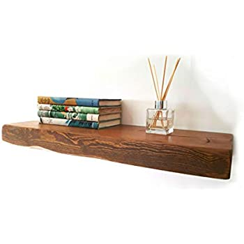FLOATING SHELVES RECLAIMED SOLID WOOD RUSTIC WALL SHELF IN ...