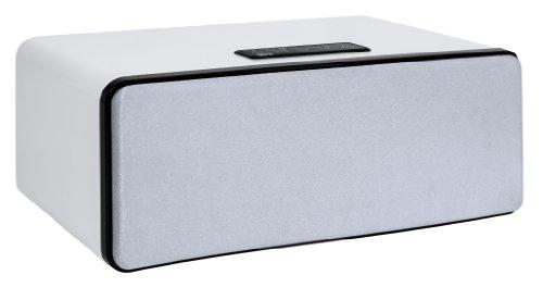 Blu:s Celestial Bluetooth-Stereo-Lautsprecher (2x 10 Watt RMS, AUX-IN, Sensortasten, Fernbedienung) weiß