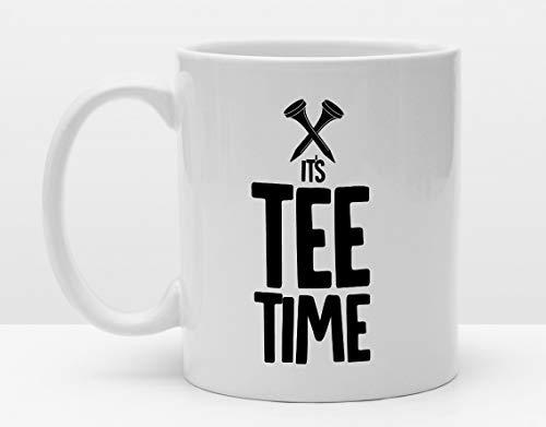 Sportler Tasse | Golf | Its Tee Time | Lustiges Geschenk für Golfer | Golf Humor | Golfball | Golfspruch | Golftasse | Golfgeschenke | Cup -