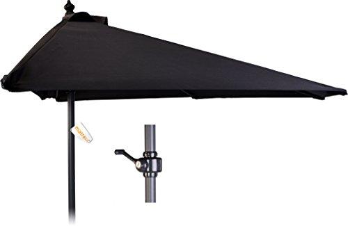 Halber Sonnenschirm 250 cm für Balkon - Balkonschirm halbrunder Balkonsonnenschirm