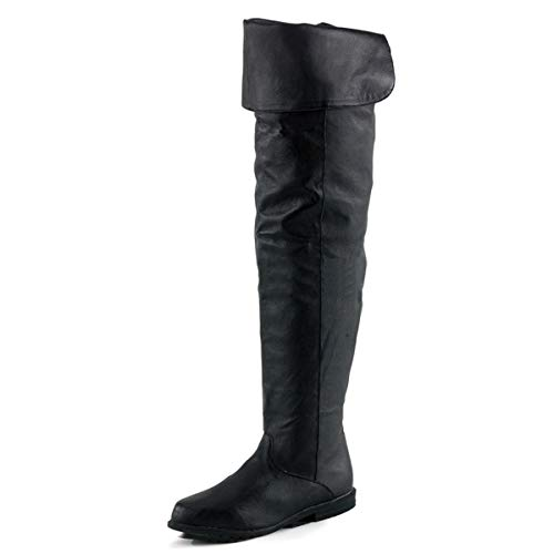 Higher-Heels Funtasma Piraten-Stiefel Raven-8826 Echt Leder schwarz Gr. 39 - Piraten-overknee Stiefel