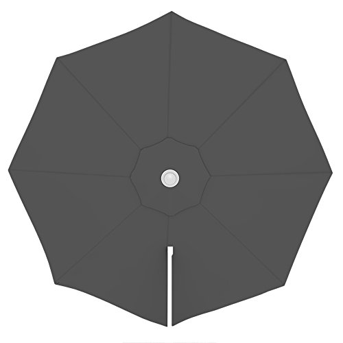 PARAMONDO Toile de rechange pour parasol avec Air Vent pour parasol à mât excentré Parapenda (3,5m / ronde), gris
