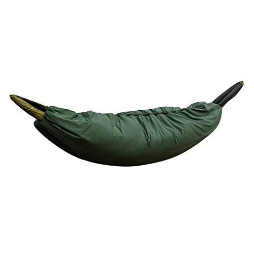 Hängematten Wärmeschutz Underquilt/Hammock Isomatte Underblanket für Winter Outdoor-Aktivitäten 0 ? -20 ?, leichte Camping Quilt, packbar voller Länge unter Decke (Armeegrün)