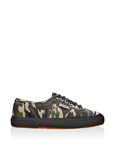 Superga 2750 Cotcamou, Sneakers Basses homme, Multicolore (951 Dk Green/Camo), 45 EU Dk Green Camouflage