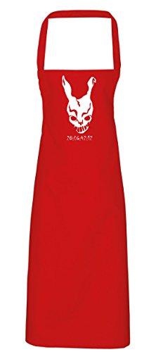 hippowarehouse Donnie Darko Frank Maske Countdown Schürze Küche Kochen Malerei DIY Einheitsgröße Erwachsene, rot, (Halloween Kostüm Darko Donnie Frank)