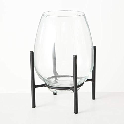 Boltze Vase auf Stand Taro Höhe 21 cm