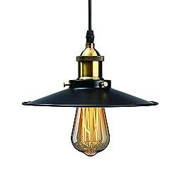 Vintage Pendant Light, HUIBONA Retro Loft Ceiling Light Fitting, E27 Hanging Lamp Holder 3-core 2m Wire Adjustable Light Fixture for Antique Industrial Style Decoration