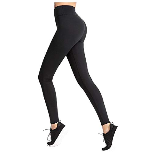 CuteRose Women Fall Winter Breathable Butt Lift Cropped Leggings Capris Black M Trim Cropped Pants