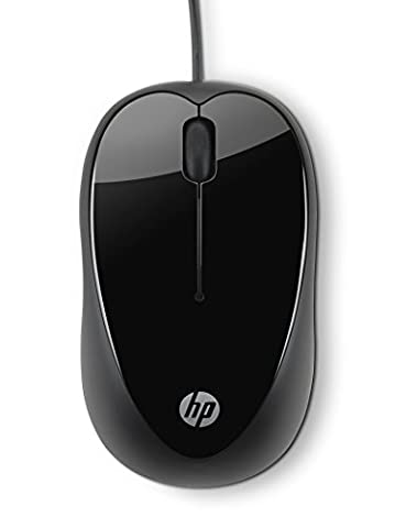 HP X1000 (H2C21AA) Optische Maus mit Kabel (USB 2.0 kompatibel mit Microsoft Windows XP/Windows Vista/Windows 7) schwarz